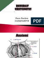 Referat Peritonitis (Fara Fariha 1102010093)