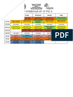 sample organized schedule