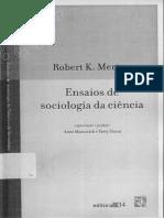 Ensaios de Sociologia das Ciências Robert Merton