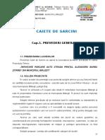 Parcare Caiet de Sarcini