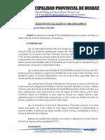 resolucion que modifica la RESOLUCIÓN DE ALCALDÍA N° 029-2018 - Delegacion de Facultades modificaciones presupuestarias