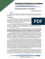 RESOLUCION DE ALCALDIA  N°117 nulidad