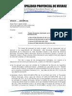 Oficio de SG a OCI Remitiendo Información Sobre Los Terrenos de Quinuacocha.