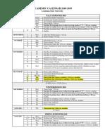 Academic Calendar 2018 LSU