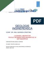 Geologie Inginereasca -Referat Decembrie 2016