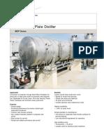 PD2055E1 MEP Multi Effect Plate Distiller
