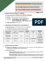 Ficha de Seguridad Del POLIURETANO