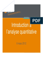 Presentation Introduction a l Analyse Quantitative 2012-03-06