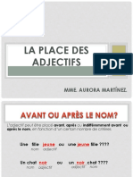 2. La Place de l'Adjectif
