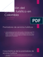 Prestación Del Servicio Turístico en Colombia