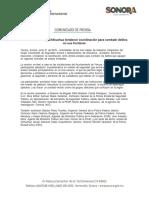 01/06/18 Acuerdan Sonora y Chihuahua fortalecer coordinación para combatir delitos en sus fronteras -C.061802
