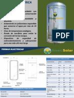 Ficha Tecnica Termas Electricas