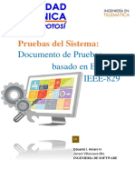 Documento de Pruebas Ingenieria de Software