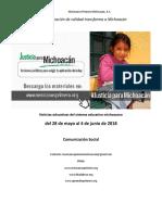 Síntesis Educativa Semanal de Michoacán al 4 de junio de 2018