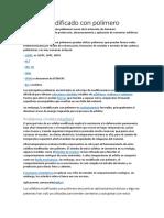 Asfalto Modificado Con Polímero y Polimeros en Instalaciones Electricas