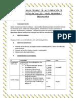Plan de Trabajo de Fiestas Patrias 2016 Nivel Primaria y Secundaria
