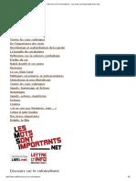 Discours Sur Le Colonialisme - Les Mots Sont Importants (Lmsi