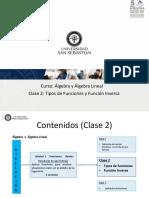 AAL_C2_1_Clase 2 Tipos de Funciones y Función Inversa