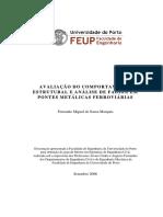 Marques - 2006 - Avaliação Do Comportamento Estrutural e Análise de Fadiga Em Pontes Metálicas Ferroviárias