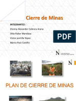 Plan de Cierre de Mina