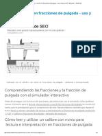 Nonio o Vernier en Fracciones de Pulgada - Uso y Lectura _ Prof. Eduardo J. Stefanelli