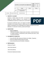 PR-CYE-017 (PR-CYE-004) Procedimiento Para Control de Equipos de Medición