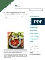 Aneka Resep Sambal Enak Pedas Ayam Goreng Bakar | Resep Masakan Indonesia Praktis