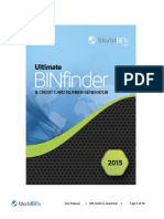 Bin Finder 2015 User Manual