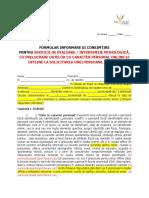 6 Companie Formular Consimtire Psiholog Testare Offline Prelucrari Offline Si Online 18 Ani Minor