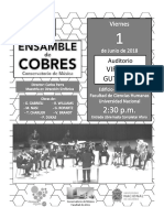 Concierto Ensamble de Cobres - 1 de Junio