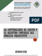 La Contabilidad de Costos y El Registro Contable Arreglado