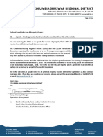 CSRD May2918 Fire Services Agreement Letter