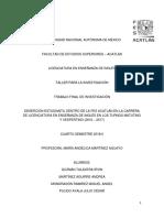 DESERCIÓN ESTUDIANTIL DENTRO DE LA FES ACATLÁN EN LA CARRERA DE LICENCIATURA EN ENSEÑANZA DE INGLÉS EN LOS TURNOS MATUTINO Y VESPERTINO (2016 – 2017)