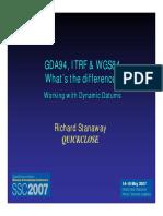 Diferencia Entre Wgs84 y Itrf