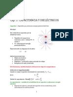 Capacitancia y Constante Diaelectrica