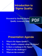 An Introduction to Six Sigma Quality