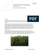 The role of industrial hemp and carbon farming