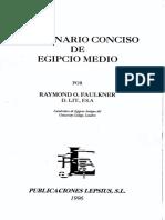 Faulkner Diccionario Conciso de Egipcio Medio de Faulkner