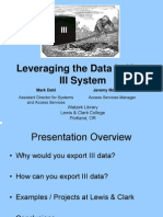 IUG2006, Leveraging the Data in your III System