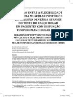 RELAÇÃO ENTRE A FLEXIBILIDADE DA CADEIA MUSCULAR POSTERIOR E A OCLUSÃO DENTÁRIA