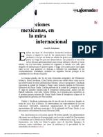 La Jornada_ Elecciones Mexicanas, En La Mira Internacional