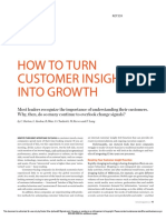 How to Turn Customer Insight Into Growth
