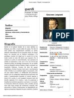 Giacomo Leopardi - Wikipedia, La Enciclopedia Libre