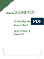 Unidad 02 Hidrostatica