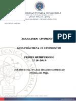 Guia de Practicas Pavimentos Seccion Diurna -Semestral.2018.