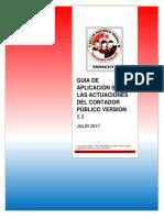 Guia de Aplicación Sobre Las Actuaciones Del Contador Público Version 1.1