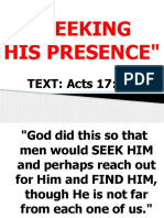 SEEKING HIS PRESENCE.pptx