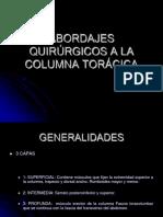 Abordajes Quirurgicos a La Columna Toracica