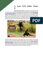 Situs Sabung Ayam S128 Online Bonus Setiap Deposit