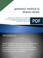 Managementul Medical Al Litiazei Renale